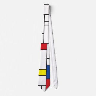 Mondrian Minimalist De Stijl Modern Art Custom Neck Tie