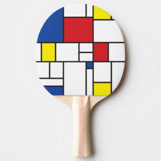 Mondrian Minimalist De Stijl Modern Art Custom Ping Pong Paddle