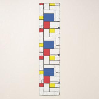 Mondrian Minimalist De Stijl Modern Art Custom Scarf