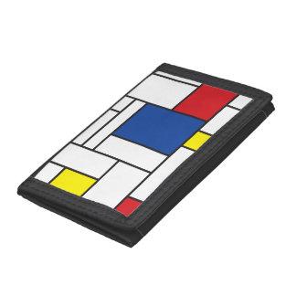 Mondrian Minimalist De Stijl Modern Art Custom Trifold Wallet