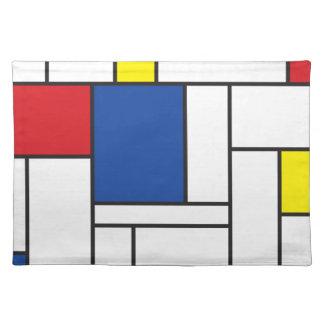 Mondrian Minimalist De Stijl Modern Art Placemat Cloth Place Mat