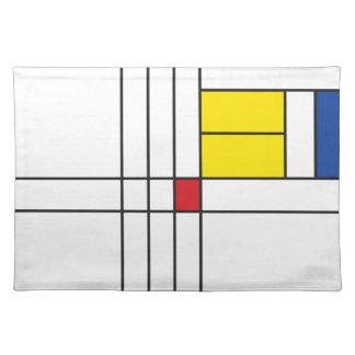 Mondrian Minimalist De Stijl Modern Art Placemat Cloth Placemat