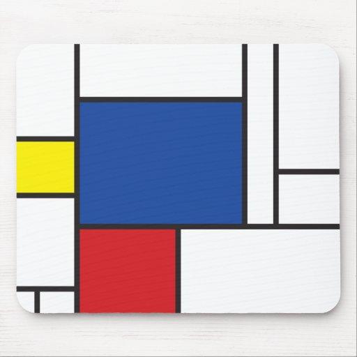 Mondrian Minimalist De Stijl Modern Art Simple Mousepads