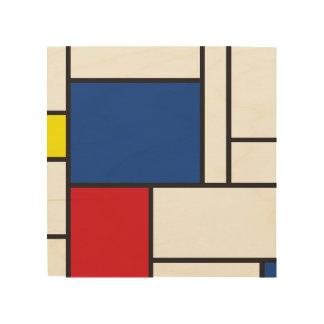 Mondrian Minimalist De Stijl Modern Art Wood Print