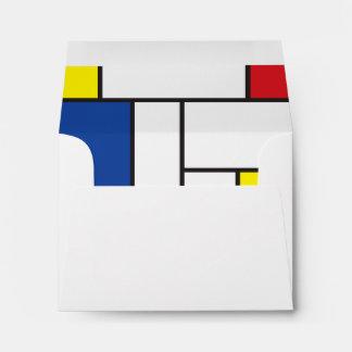 Mondrian Minimalist De Stijl Modern Modern Art Envelope