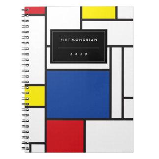 Mondrian Minimalist De Stijl Modern Modern Art Spiral Notebook