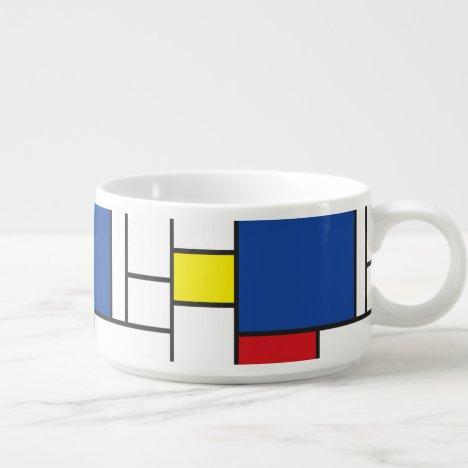 Mondrian Minimalist Geometric De Stijl Modern Art Bowl