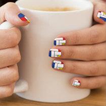 Mondrian Minimalist Geometric De Stijl Modern Art Minx Nail Art