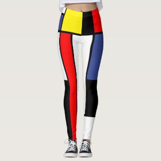 Mondrian, minimalist leggings