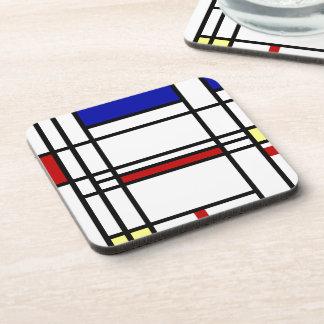 Mondrian Modern Art Beverage Coaster