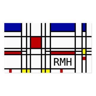 Mondrian Modern Art Business Card