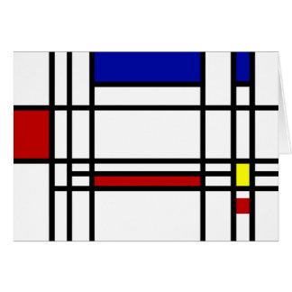 Mondrian Modern Art Stationery Note Card