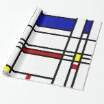 Mondrian Modern Art Gift Wrapping Paper
