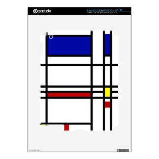 Mondrian Modern Art iPad 3 Decals