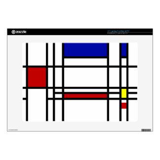Mondrian Modern Art Laptop Decal