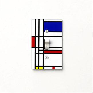 Mondrian Modern Art Light Switch Cover