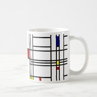 Mondrian Modern Art Classic White Coffee Mug