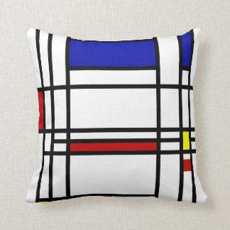 Mondrian Modern Art Pillow