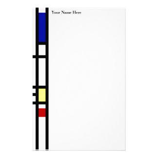 Mondrian Modern Art Stationery