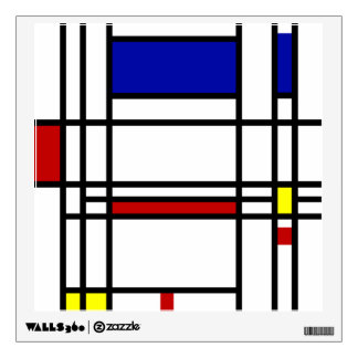 Mondrian Modern Art Wall Decal