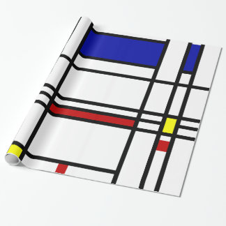 Mondrian Modern Art Gift Wrapping Paper