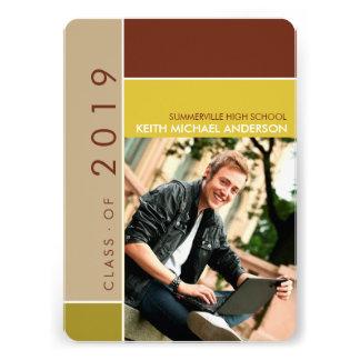 Mondrian Modern Graduation Grad Photo Announcement