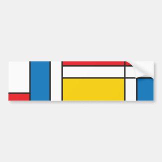 Mondrian moderno inspiró el modelo gráfico pegatina para auto