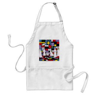 Mondrian Nativity - De Stijl - Neoplasticism Adult Apron