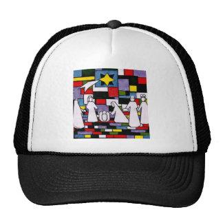 Mondrian Nativity - De Stijl - Neoplasticism Trucker Hat