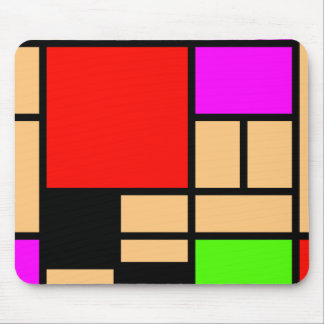 Mondrian new style, modern colors mouse pad