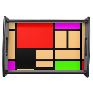 Mondrian new style, modern colors serving trays