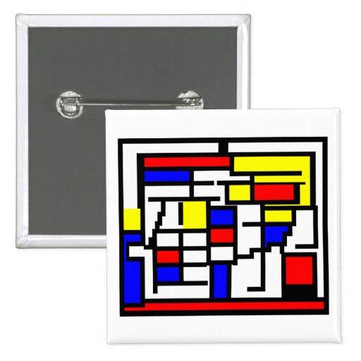 Mondrian Pinback Buttons