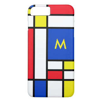 Mondrian Red Yellow Blue iPhone 7+ Case