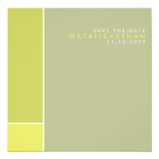 Mondrian Retro Mod Art Colorful Save The Date Card