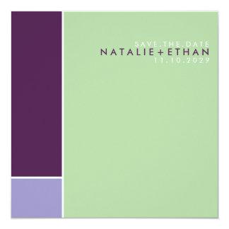 Mondrian Retro Mod Art Colorful Save The Date 5.25x5.25 Square Paper Invitation Card