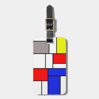 Mondrian style bag tag