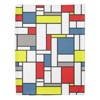 Mondrian style design duvet cover