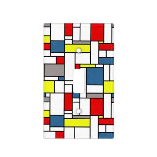Mondrian style design light switch cover