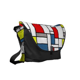Mondrian style design messenger bag