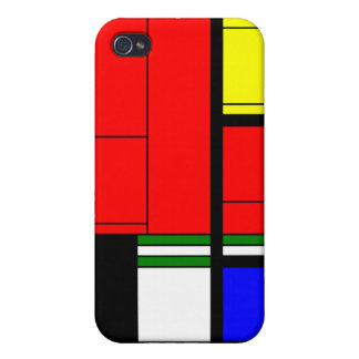 Mondrian style mosaic, your initials 3 iPhone 4 case