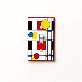 Mondrian Style Neo-Plasticism Art Light Switch Cover