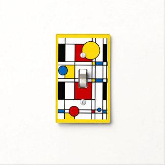 Mondrian Style Neo-Plasticism Art Yellow Border Light Switch Cover
