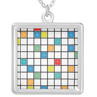 Mondrian teja el collar moderno