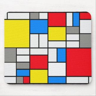 Mondrian Theme Elegant Mousepad