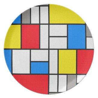 Mondrian Theme Elegant Plate
