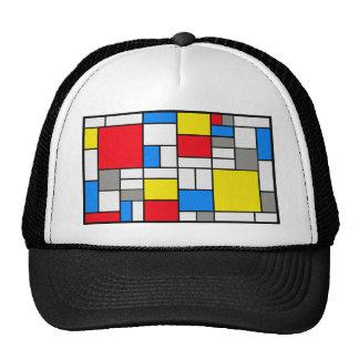 Mondrian theme trucker hat