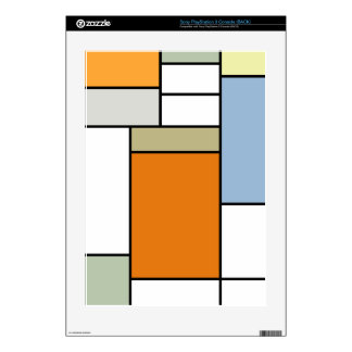 Mondrian Tiles PlayStation 3 Console Skin Skins For PS3