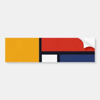Mondrian Yorkie Bumper Stickers