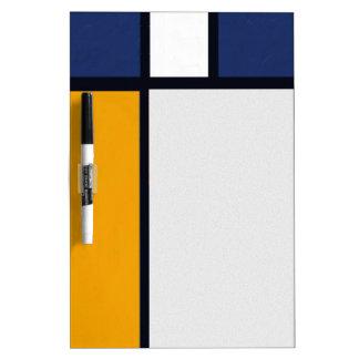 Mondrian Yorkie Dry Erase Board
