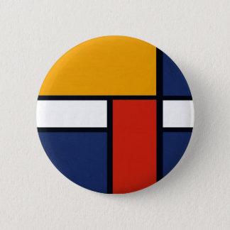 Mondrian Yorkie Pinback Button